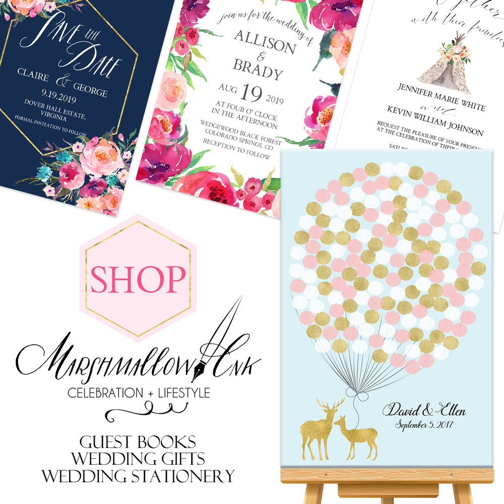 Etsy Wedding Invitations - Marshmallow Inc LLC