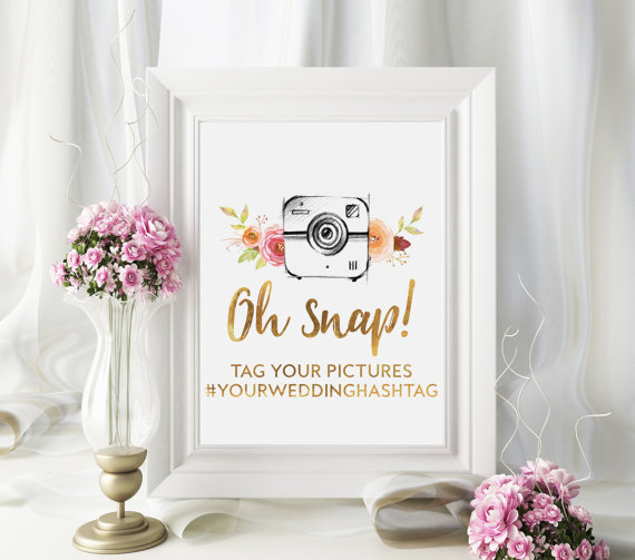 Unique Summer Wedding Signs 1 - hashtag wedding sign
