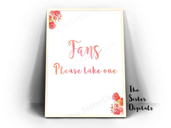 Unique Summer Wedding Signs 7 - fan wedding sign