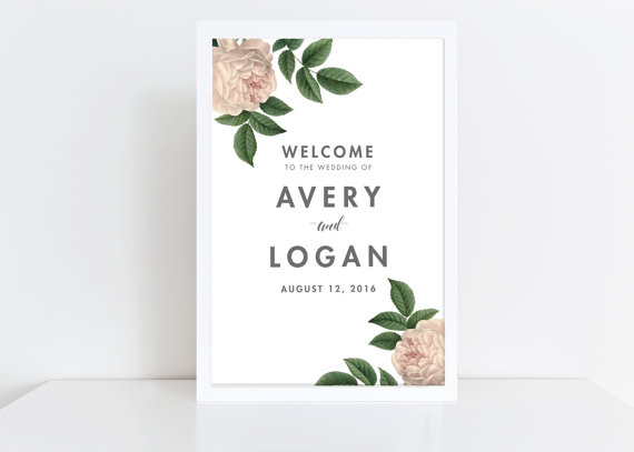 Unique Summer Wedding Signs 11 - floral wedding welcome sign