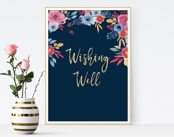 Unique Summer Wedding Signs 17 - wedding wishing well sign