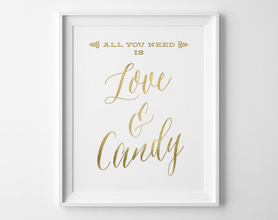 Unique Summer Wedding Signs 20 - wedding candy bar sign