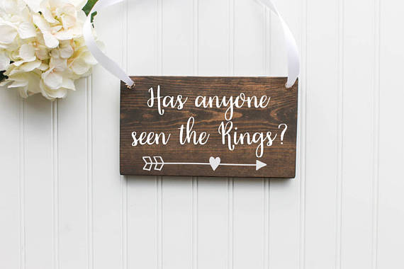 Unique Summer Wedding Signs 22 - funny ring bearer sign