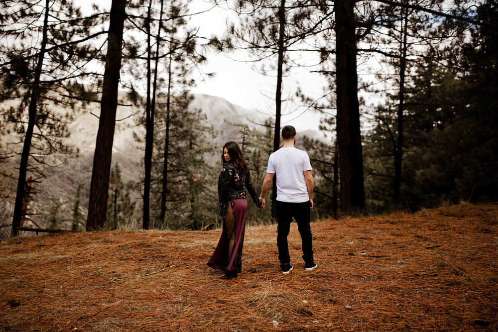 Angeles National Forest Moody Engagement Photos -- A Nomadic Love