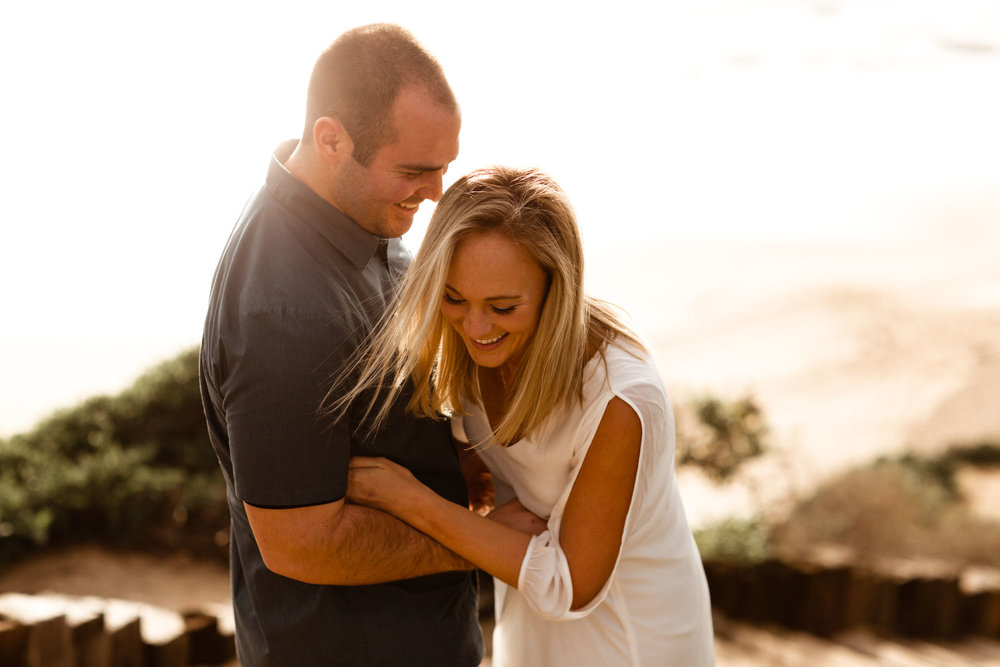 Reef Point Beach Engagement Photos -- A Nomadic Love