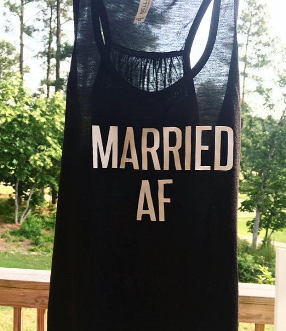 Honeymoon Essentials - Honeymoon Married AF Tank