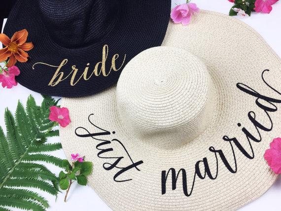 Honeymoon Essentials - Honeymoon Personalized Sun Floppy Hat