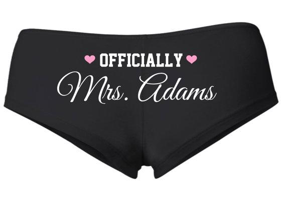Honeymoon Essentials - Honeymoon Mrs Personalized Underwear