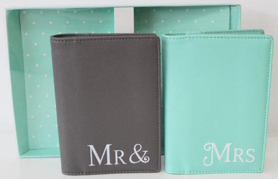 Honeymoon Essentials - Mr and Mrs Honeymoon Passport Cases