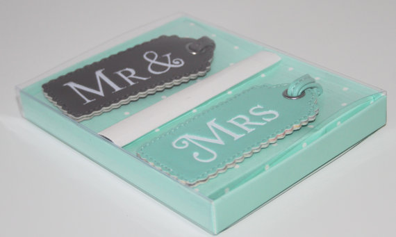 Honeymoon Essentials - Mrs and Mrs Honeymoon Luggage Tags