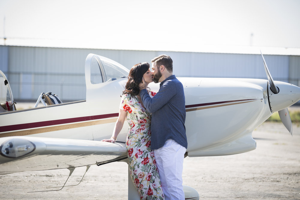 A Jet-Setting 1940's Engagement Session - Sarah Goldman Photography
