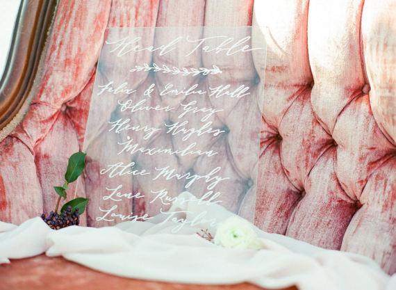 Acrylic Calligraphy Wedding Sign