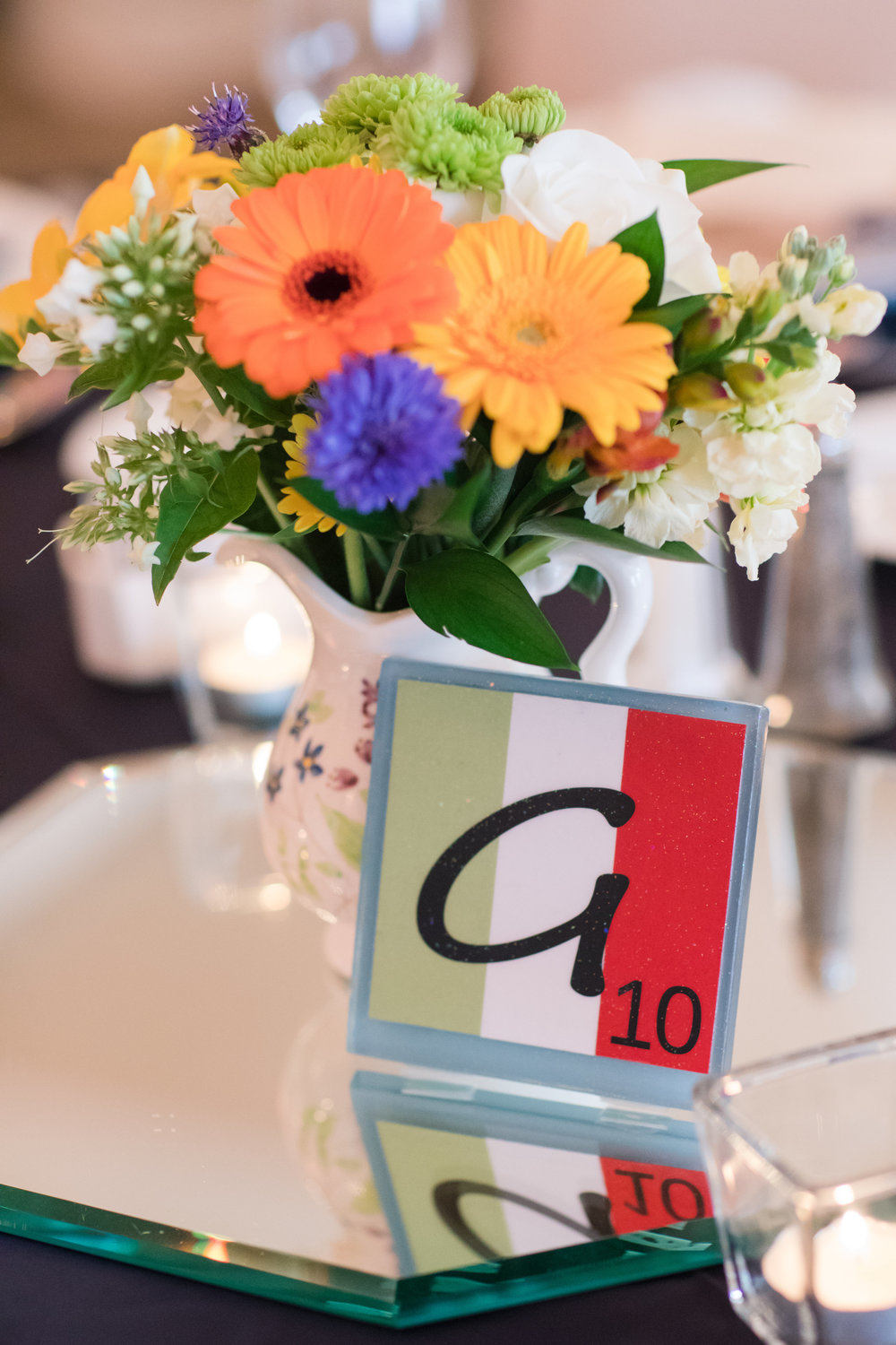 Unique Wedding Table Numbers - A Classic George Washington Hotel Wedding - Photography by Marirosa