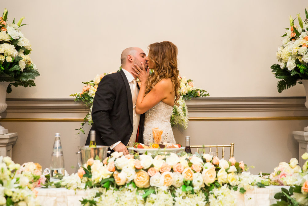 White Floral Sweetheart Table - A Curzon Hall Wedding - T-One Photography
