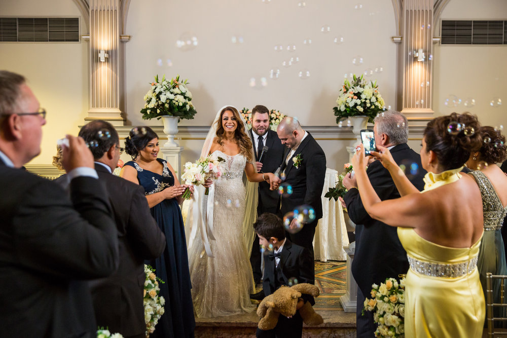 Bubble Wedding Ceremony Exit - A Curzon Hall Wedding - T-One Photography