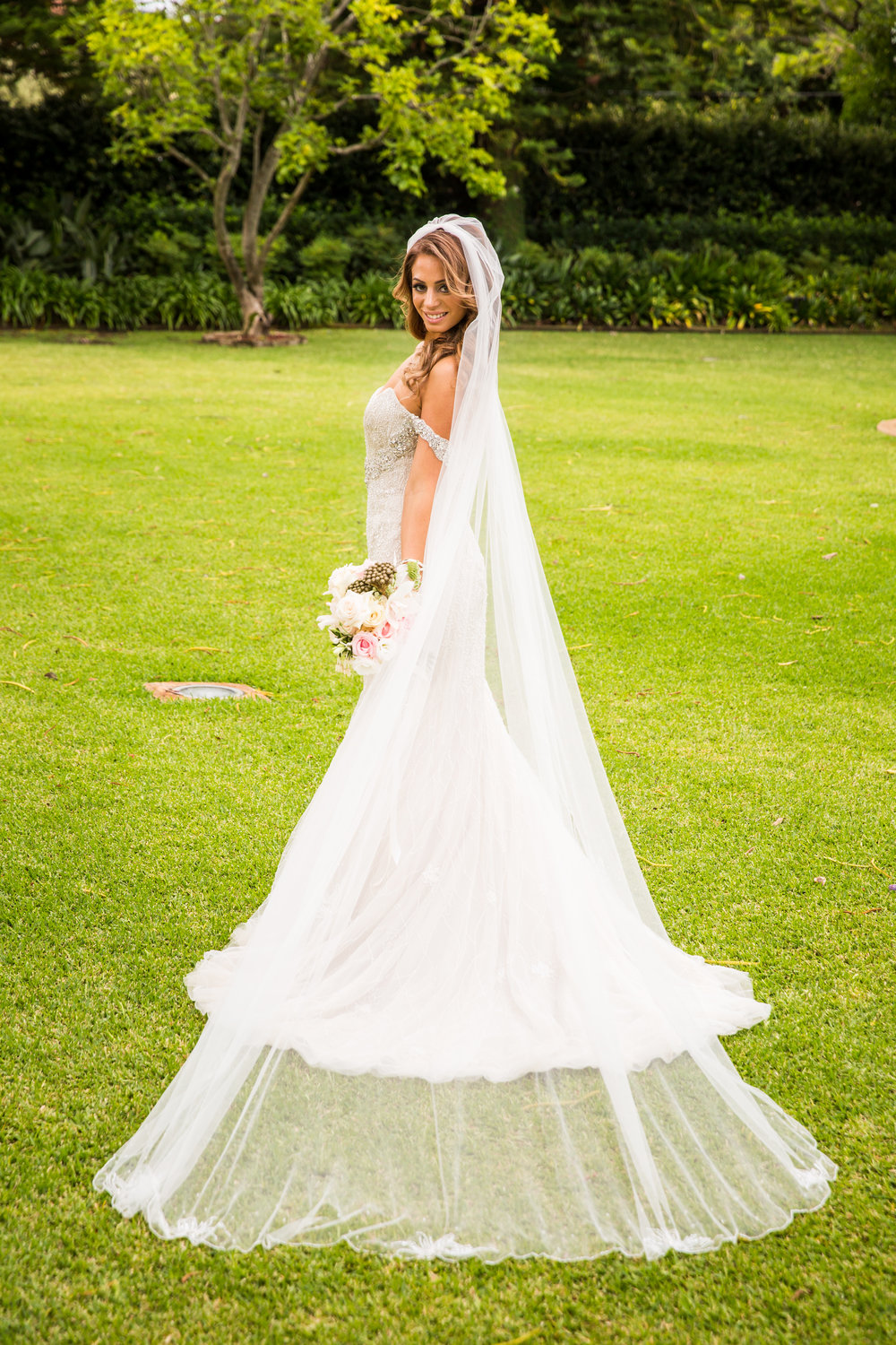 Cathedral Bridal Veil - A Curzon Hall Wedding - T-One Photography