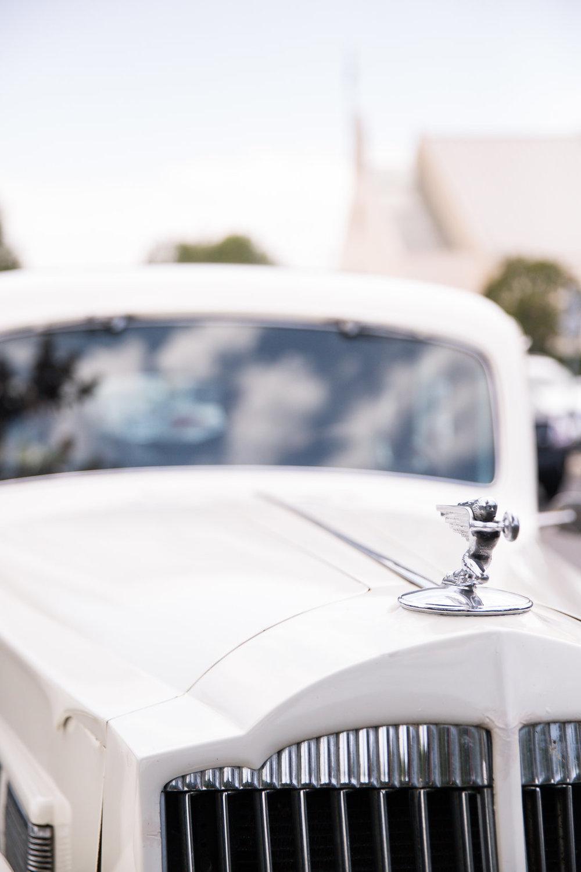Vintage Wedding Rental Car - A Blue + Gold Rancho El Toro Courtyard Wedding - Oana Foto