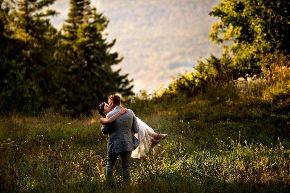 Gorgeous Mountain Wedding Photos - Catskills Hunter Mountain Bohemian Wedding - Custom by Nicole Photography