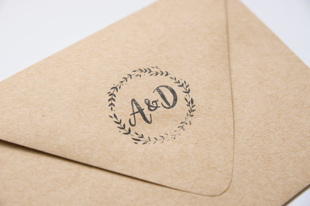 Personalized Envelope Stamp - A McCoy Equestrian Center Wedding - Peterson Design & Photography