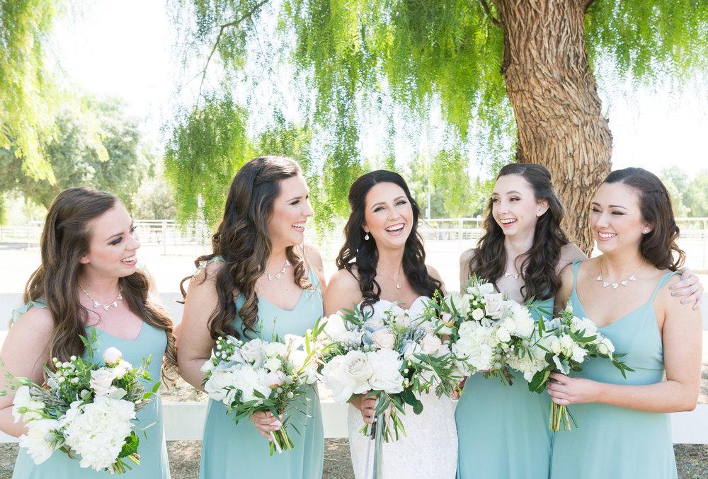 Mint Bridesmaid Dresses - A McCoy Equestrian Center Wedding - Peterson Design & Photography
