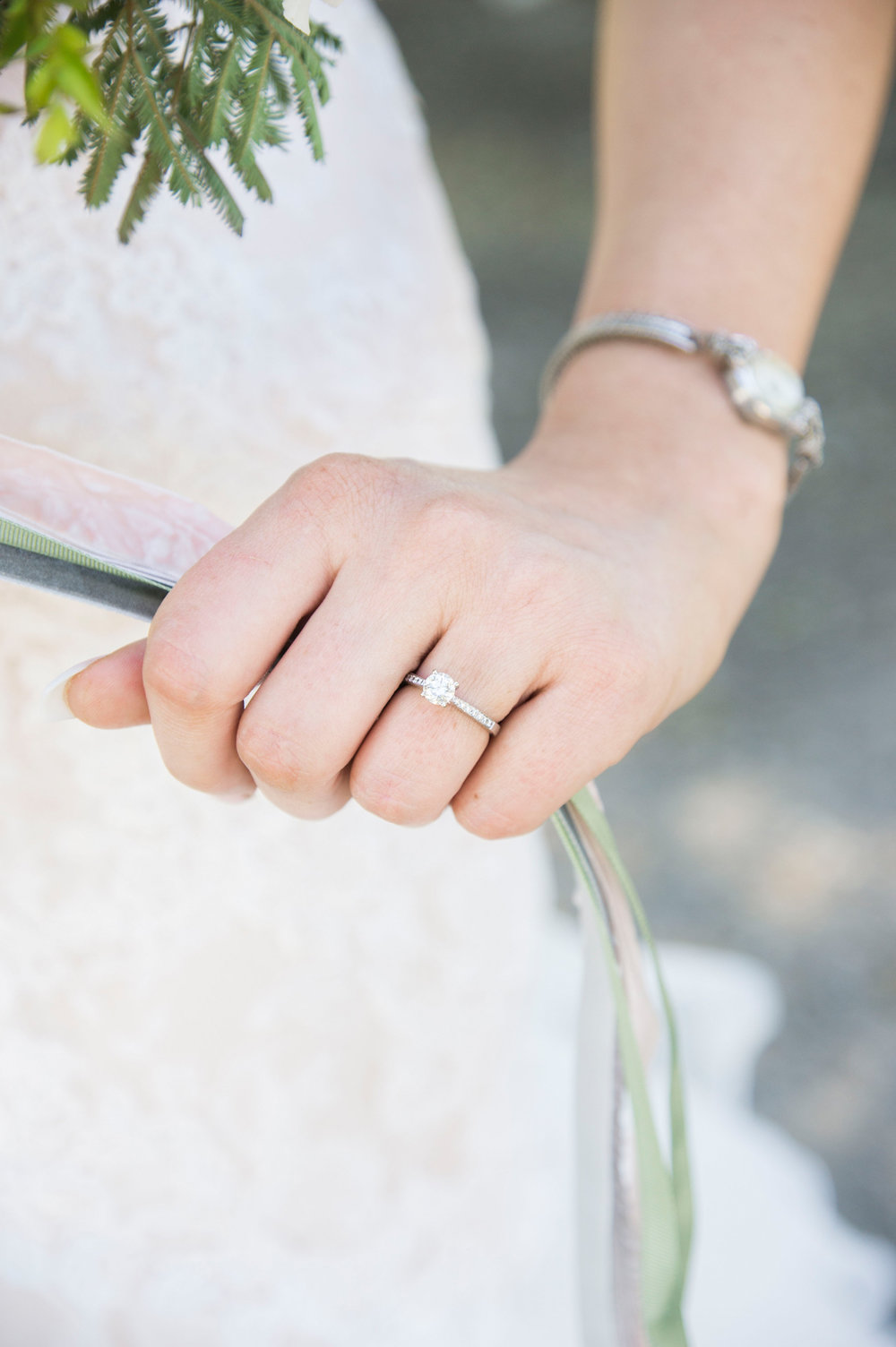 Solitaire Engagement Ring - A McCoy Equestrian Center Wedding - Peterson Design & Photography