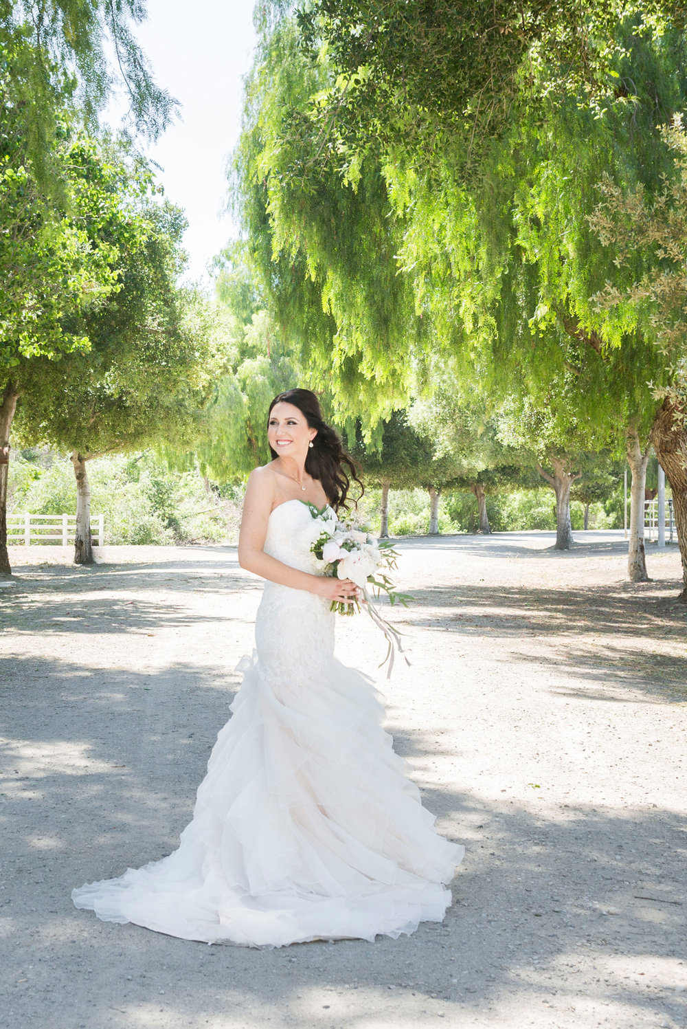 Lace + Light Blush Mermaid Wedding Dress - A McCoy Equestrian Center Wedding - Peterson Design & Photography