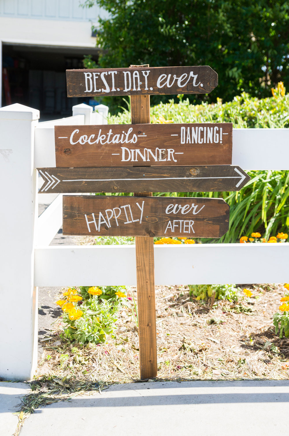 Wooden Directional Wedding Sign - A Rustic-Vintage Glam McCoy Equestrian Center Wedding - Peterson Design & Photography