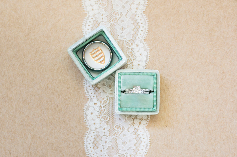 Mint Engagement Ring Box - A Rustic-Vintage Glam McCoy Equestrian Center Wedding - Peterson Design & Photography