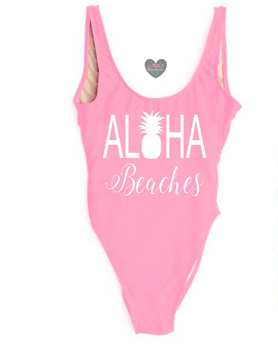Bachelorette Party One Piece Bathing Suits