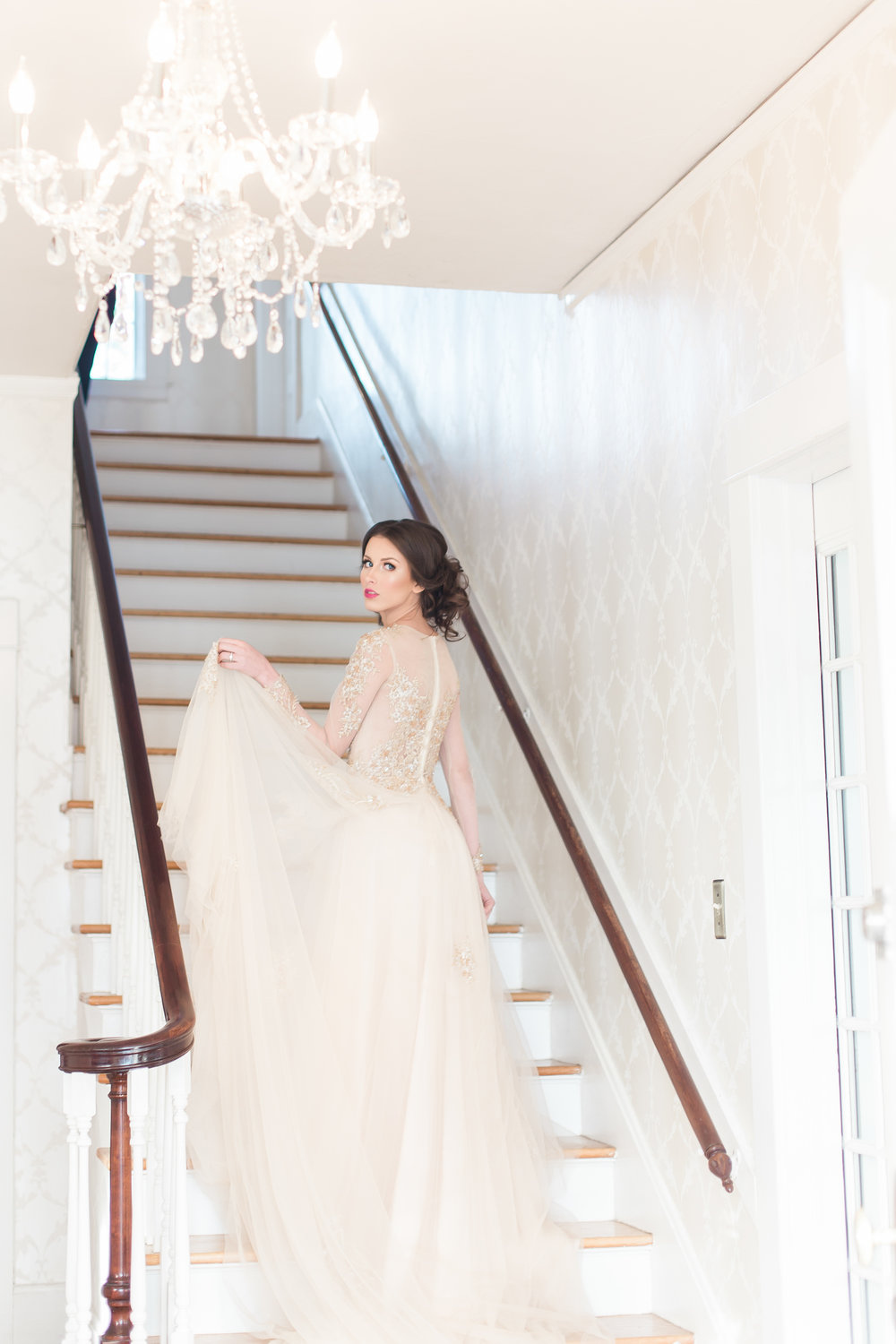 A Dreamy, Romantic Blush Gray Gables Estate Styled Shoot - Solovey Photography