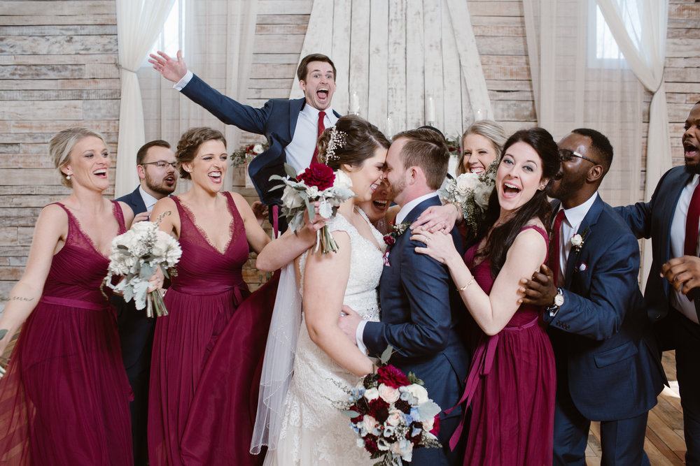 A Burgundy + Bronze Ramble Creek Fall Wedding - Erin Morrison Photography