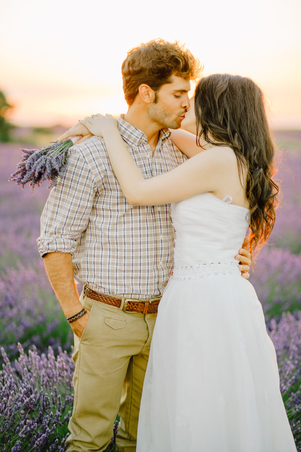 Lavender Field Engagement Photos - Guadalajara Spain Lavender Field - Alla Yachkulo Photography
