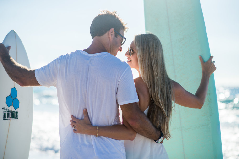 A Grape Bay Beach Surf Engagement Session -- Two & Quarter Photography -- Wedding Blog-The Overwhelmed Bride