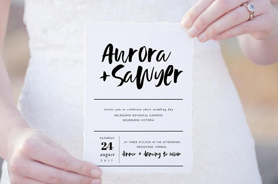 Simple Wedding Invitations for Any Season