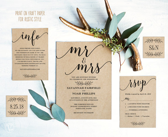 22 Simple Wedding Invitations for Any Season The Overwhelmed Bride