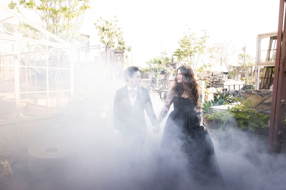 Classy Halloween Wedding Inspiration- A Moody Vintage-Victorian Inspired Styled Wedding  -- Wedding Blog