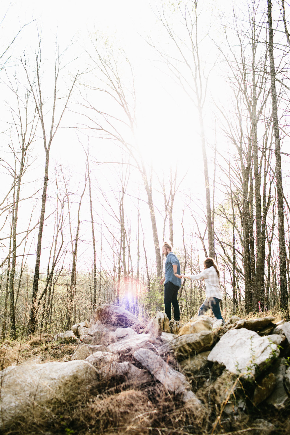 Outdoorsy Adventure Engagement Photos - Moonshine Hill Wedding - High Five for Love Photography -- Wedding Blog - The Overwhelmed Bride