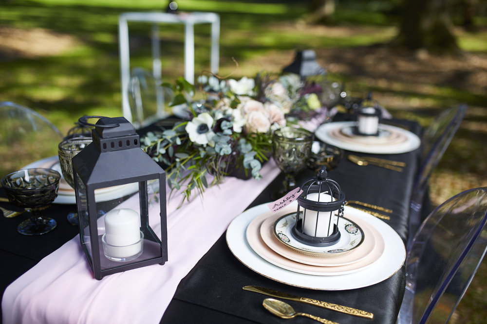 A Black, Blush + Gold Styled Garden Wedding -- Marcus Anthony Photography -- Wedding Blog-The Overwhelmed Bride