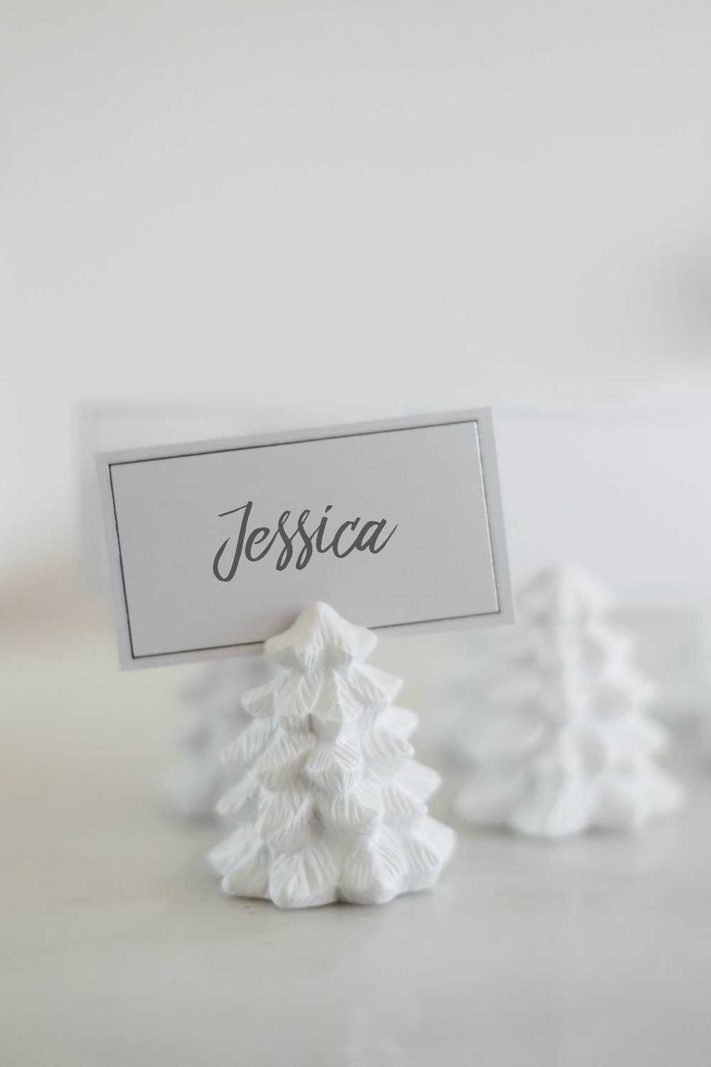 Winter Wedding Ideas - Place Card Holders - Kate Aspen -- Wedding Blog-The Overwhelmed Bride