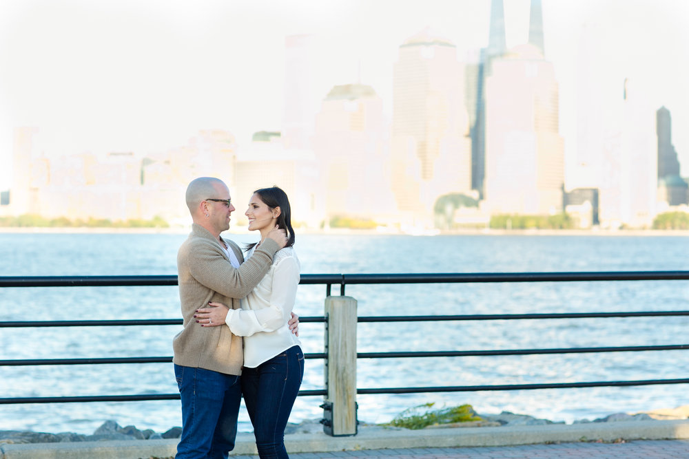 Liberty State Park Engagement Photos - Meely Photography