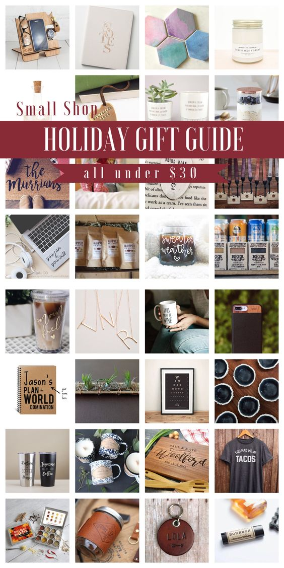 2017 Small Shop Inexpensive Holiday Gift Guide - Wedding Blog - The Overwhelmed Bride