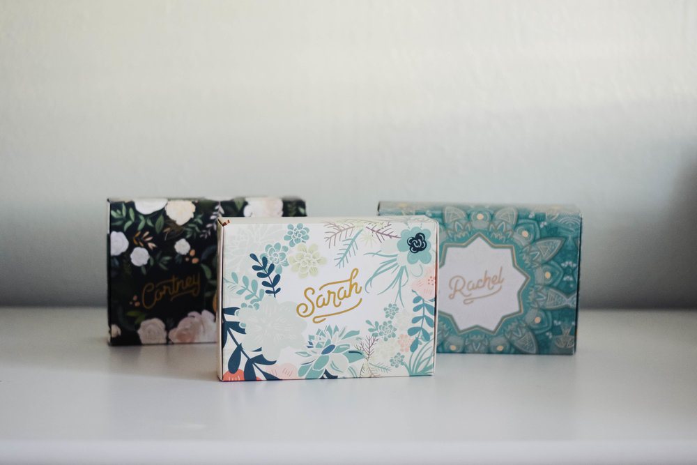 Cutest Bridesmaid Proposal Gift Boxes - Mailbox Melodies -- Wedding Blog - The Overwhelmed Bride