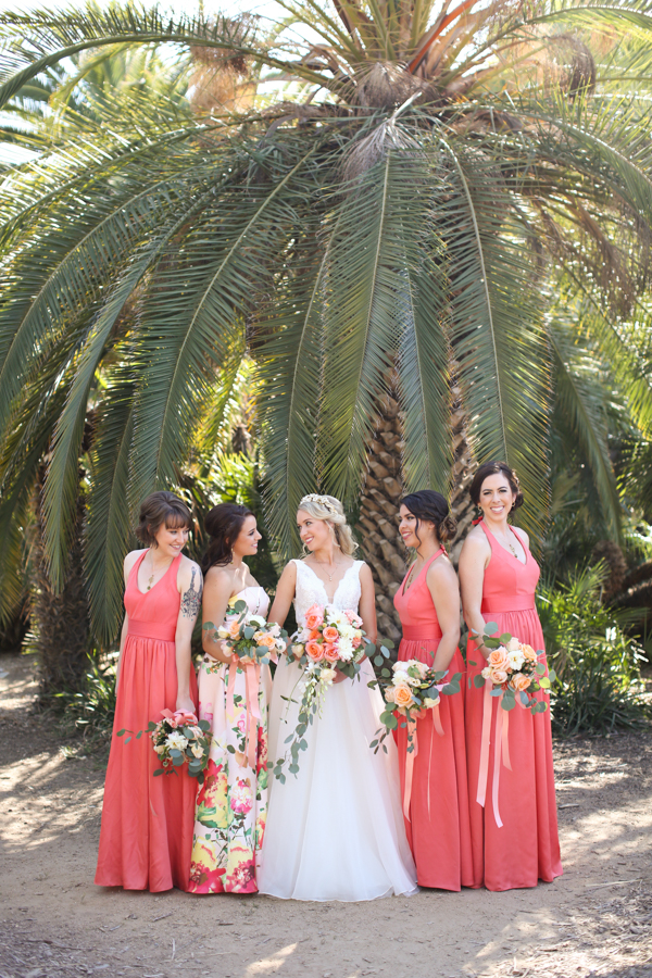 A Vibrant Fullerton Arboretum Wedding - Green + Peach Irish Wedding - Melissa McClure Photography -- Wedding Blog - The Overwhelmed Bride
