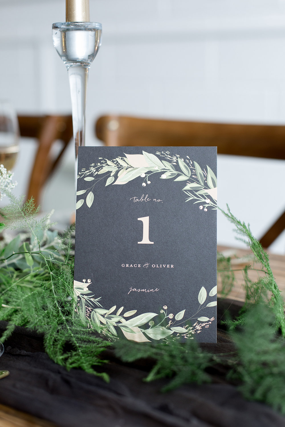 Chalkboard Black Table Numbers - Industrial Warehouse Wedding -- The Overwhelmed Bride - Wedding Blog