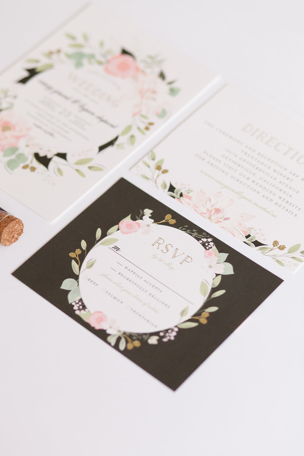 Floral + Greenery Wedding Invitations - Minted - Industrial Warehouse Wedding -- The Overwhelmed Bride - Wedding Blog
