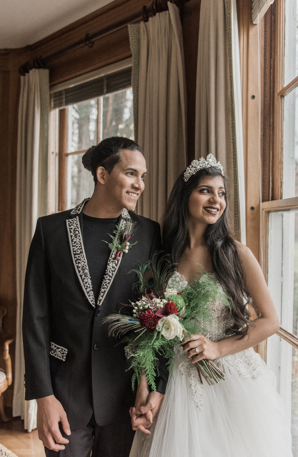 A Maroon, Turquoise + Gold Ethereal Fairytale Styled Wedding - Northern Virginia Wedding -- Wedding Blog - The Overwhelmed Bride