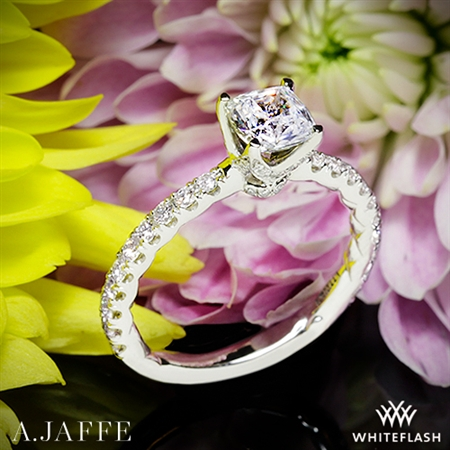 Art Deco Solitaire Engagement Ring - White Flash -- Wedding Blog - The Overwhelmed Bride