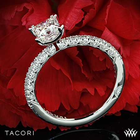 Unique Princess Cut Solitaire Engagement Ring - White Flash -- Wedding Blog - The Overwhelmed Bride