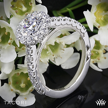 Unique Round Halo Engagement Ring - White Flash -- Wedding Blog - The Overwhelmed Bride