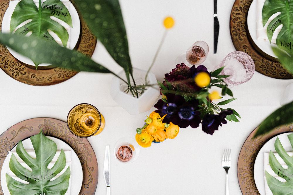 A Vibrant, Tropical Bridal Shower - Iowa Wedding Venue -- Bridal Shower Ideas